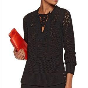 Derek Lam 10 Crosby Lace-up sweater